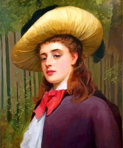 Victorian Lady Charles Sillem Paint by numbers