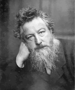 William Morris Black And White paint by number
