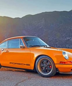 Yellow-porsche-911-paint-by-number