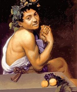 Young Sick Bacchus By Caravaggio Paint By Number