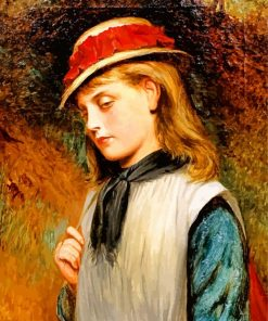 A Young Girl Charles Sillem Paint by numbers