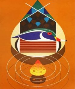 Abstract Art Charley Harper paint by numbers