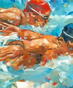 abstract swimmers paint by number
