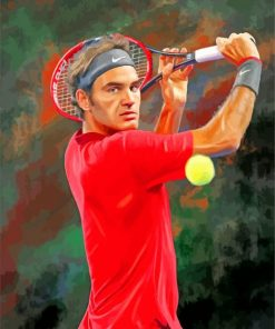aesthetic-Roger-Federer-paint-by-number