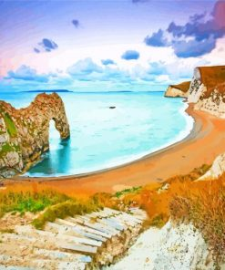 arch durdle door paint by numbers