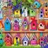 Bird Houses paint by numbers