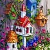 Bird House Cottage paint by numbers