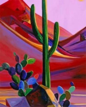 Cactus Maynard Dixon paint by numbers