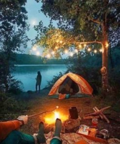 Night Camping paint by numbers