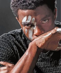 Boseman Black Panther paint by numbers