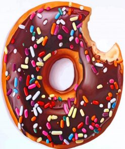 chocolate-Doughnut-paint-by-numbers