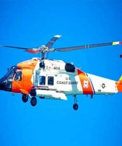 Coast Guard Helicopter Paint by numbers