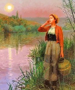 Daniel Ridgway Knight Twilight Paint by number