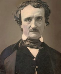 Black and White Edgar Allan Poe Paint by numbers
