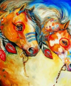 Indian Horses Paint by numbers
