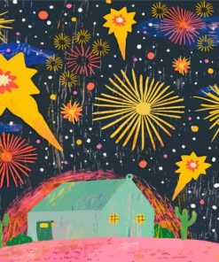 Fireworks Art paint by number