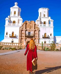 Follow Me To San Xavier paint by number