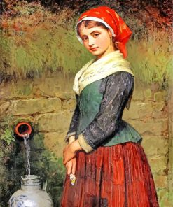 Girl By A Well Charles Sillem Paint by numbers