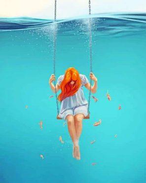 Girl Swing In The Water