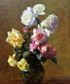 Henri Fantin Latour Flowers Paint by numbers