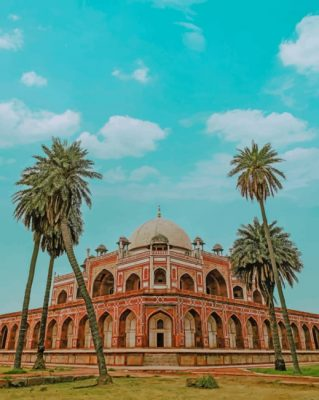 humayun-tomb-paint-by-number