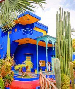 jardin majorelle marrakech paint by numbers
