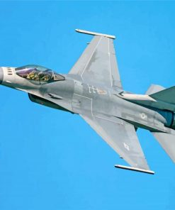 jet fighter plane paint by number