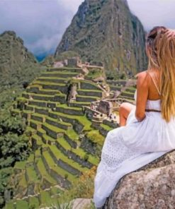 Girl In Machu Picchu paint by numbers
