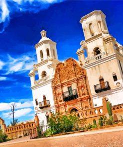 Mission San Xavier Del Bac Tucson Arizona paint by number