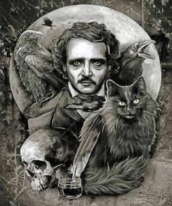 Mysterious Edgar Allan Poe paint by numbers
