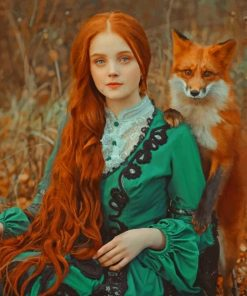orange-fox-ans-a-girl-with-a-red-hair-paint-by-numbers