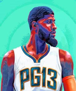 Paul George Art paint by number
