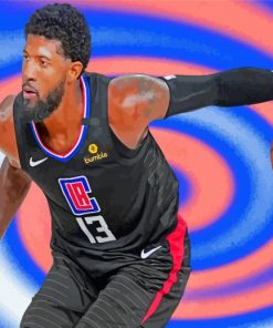 paul george Basketball paint by numbers