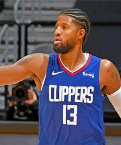 paul george Clippers paint by number