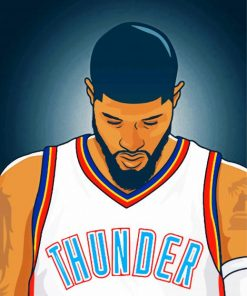 paul george Illustration paint by numbers