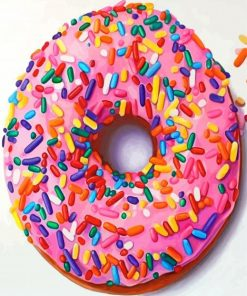 pink-Doughnut-paint-by-numbers