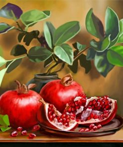 Pomegranate Fruits paint by numbers