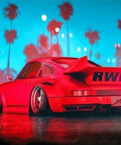 Porsche RWB Car paint by numbers