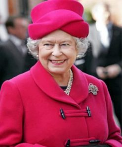 Queen Elizabeth Wearing Red paint by numbers