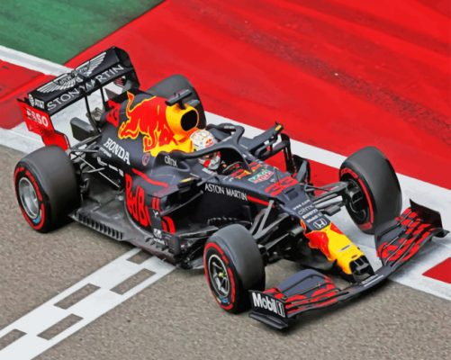 Racing Car F1 paint by numbers