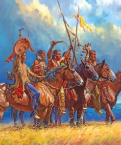 Red Indians Western Art paint by numbers