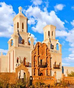 san xavier Tucson Arizona paint by numbers