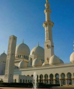 Sheikh Zayed Grand Mosque Abu Dhabi paint by numbers