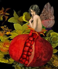 Pomegranate Woman paint by numbers
