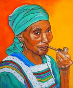 Woman Smoking paint by numbers
