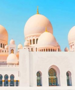 Zayed Mosque Abu Dhabi Paint by numbers