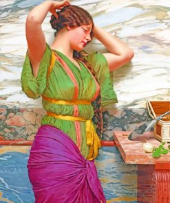 A fair reflection by John William Godward paint by number