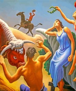 Achelous And Hercules Thomas Hart Benton paint by numbers
