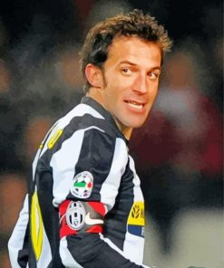 Alessandro Del Piero Footballer paint by number