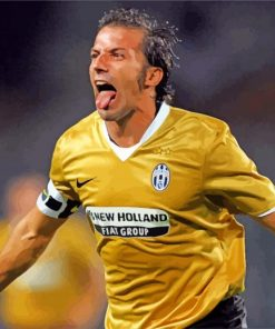 Alessandro Del Piero Player paint by number